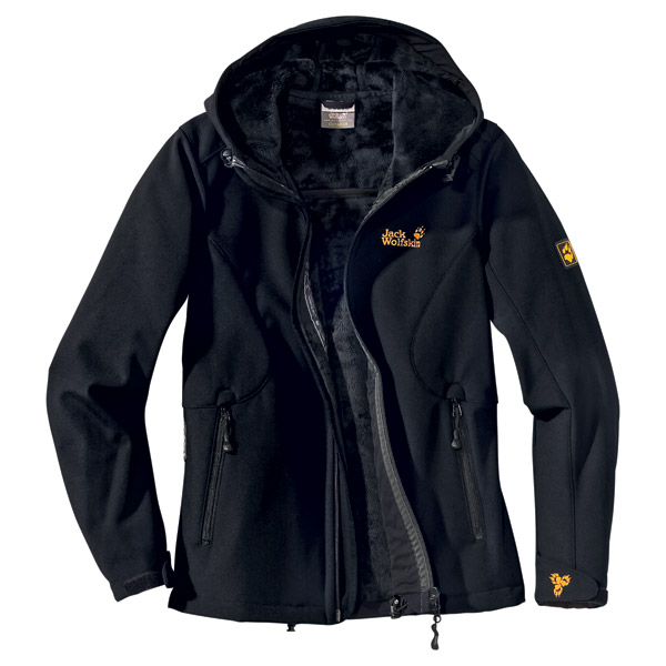jack wolfskin damen jacke mountain witch women schwarz ebay. Black Bedroom Furniture Sets. Home Design Ideas