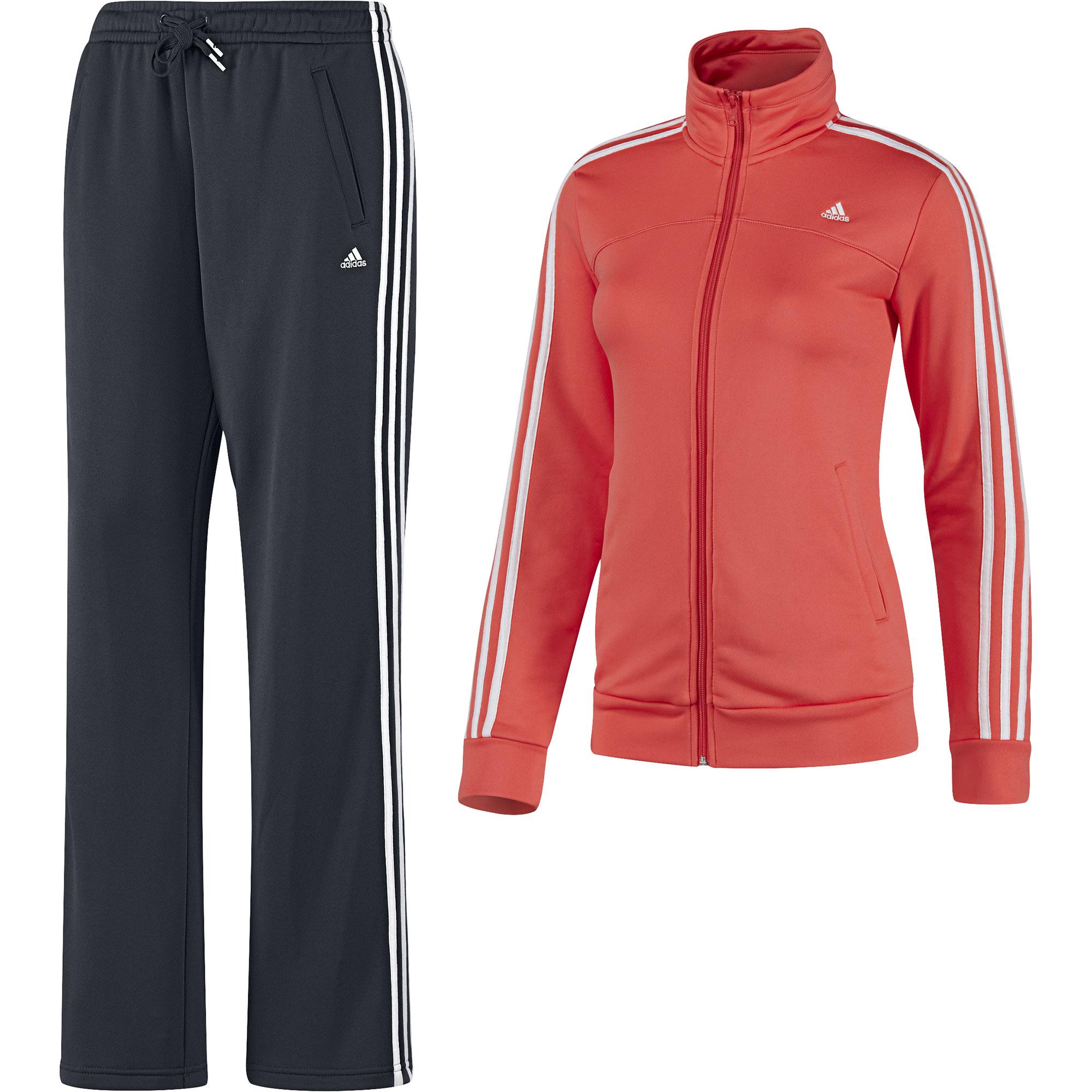 adidas damen trainingsanzug 3s young knit suit climalite. Black Bedroom Furniture Sets. Home Design Ideas