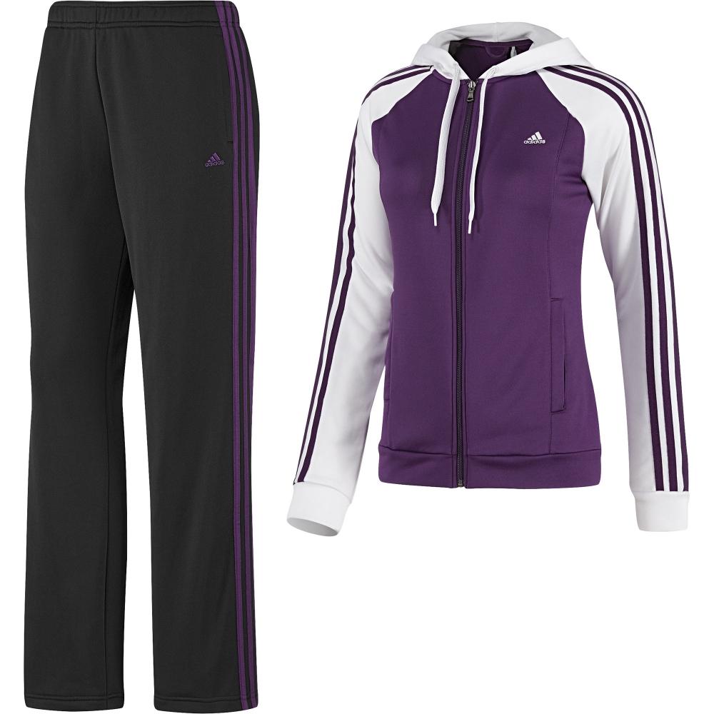 adidas damen trainingsanzug 3s young knit suit women. Black Bedroom Furniture Sets. Home Design Ideas