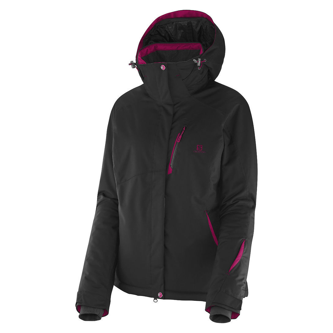 salomon damen skijacke express snowboardjacke winterjacke schwarz pink jacke neu ebay. Black Bedroom Furniture Sets. Home Design Ideas