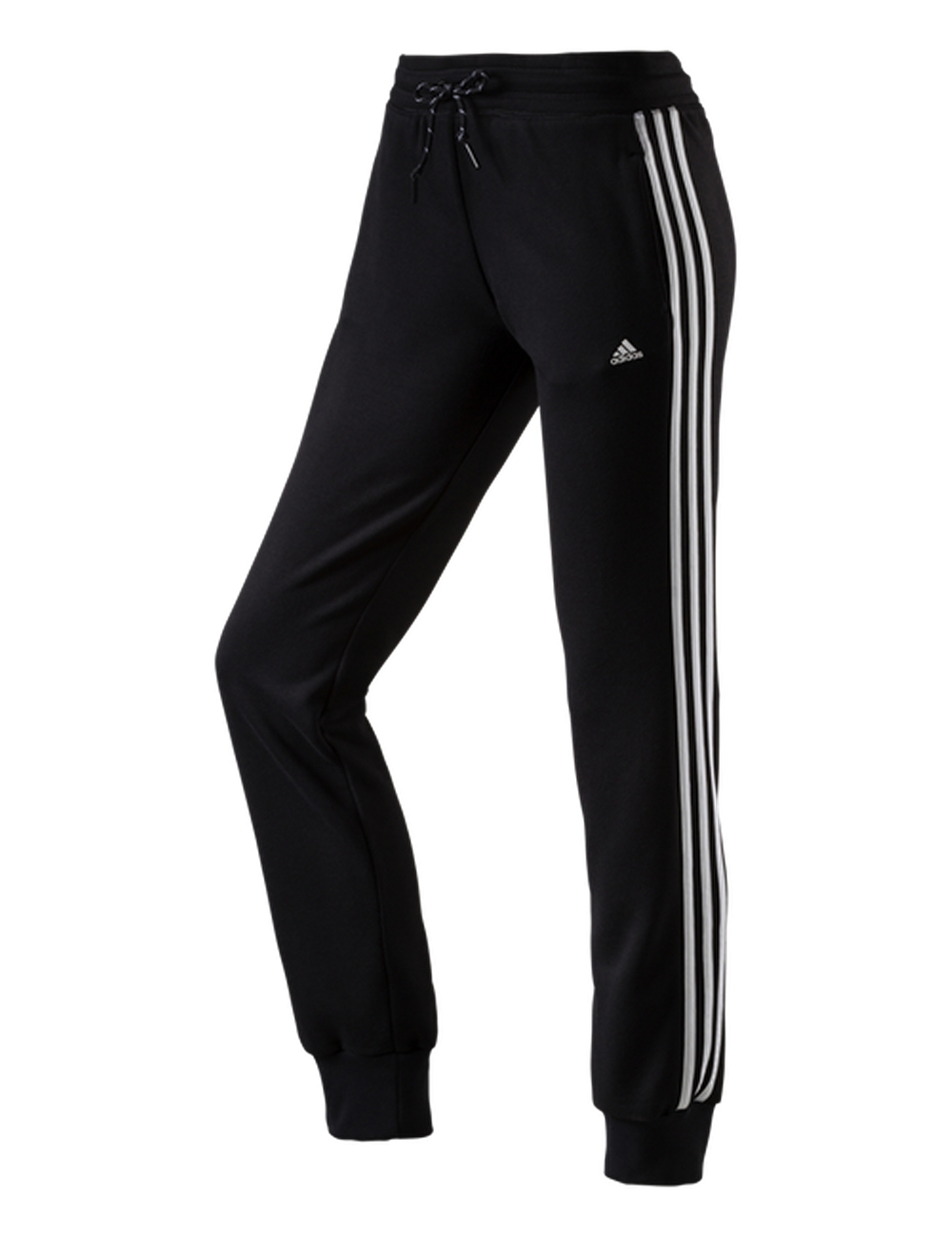 adidas damen trainingshose ess knit pants 3s schwarz wei. Black Bedroom Furniture Sets. Home Design Ideas