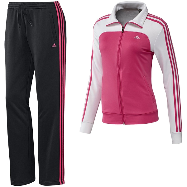 adidas damen trainingsanzug 3s young knit suit women climalite z34668. Black Bedroom Furniture Sets. Home Design Ideas